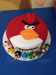 Angry Birds Birthday Cake Martinis and Slippers
