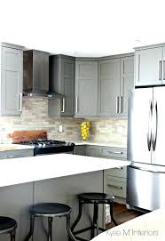 white and gray quartz countertops white and gray kitchen painted gray with white quartz and driftwood