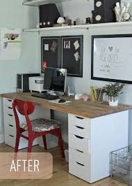 ikea office idea. the lovely cupboard our ikea office makeover numerr countertop6u00271 idea