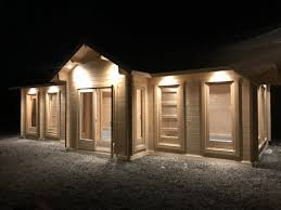 summer house lighting. 70mm Log Cabin As Office Building Summer House Lighting