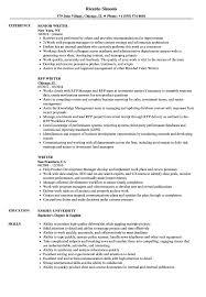 Writer Resume Samples Velvet Jobs