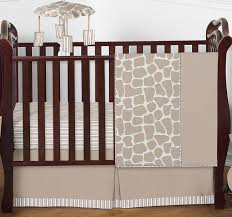 giraffe neutral baby bedding 4pc crib set by sweet jojo designs only 139 99