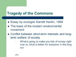 science and the environment chapter vocabulary use your books  15 tragedy of the commons essay