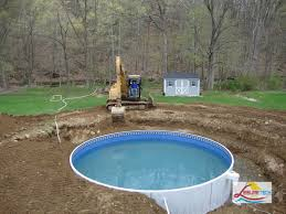 ... Great Image Of Backyard Landscaping Decoration Using Above Ground Deck  Pool Design And Ideas : Good ...