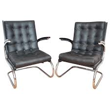 1930s art deco czech chrome leather chairs art deco chairs