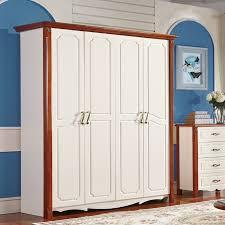 whole wood rubber wood wardrobe simple wardrobe closet storage furniture mediterranean hot explosion models