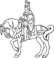 Small Picture coloring pages knights on horses knight coloring pages knight and