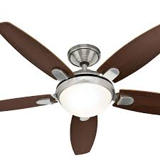 hunter ceiling fans. Contempo Ceiling Fan With Light In Brushed Nickel 52\u2033 \u2013 Hunter Hunter Ceiling Fans