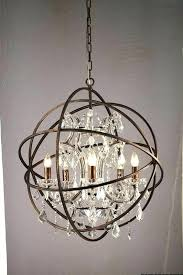 foucaults orb chandelier polished nickel iron chandelier crystal large chandeliers for low ceilings