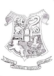 Small Picture Harry Potter Coloring Pages Hogwarts Crest Coloring Home