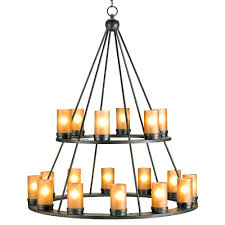 candles wrought iron candle chandelier lighting black rustic lodge tiered light home candles candlestick