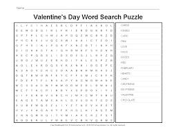 Valentine's Day Worksheets: Valentine's Day Word Search   Kids stuff ...