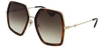gucci 2887. authentic gucci gg0106s 002 havana gold gg 0106s sunglasses 2887