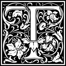 William Morris Letter T Png Png Image 2400 2400 Pixels