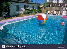 swimming pool beach ball background. Colourful Beach Balls Floating In Swimming Pool At The Ball Motel Fort Lauderdale Florida Usa Background