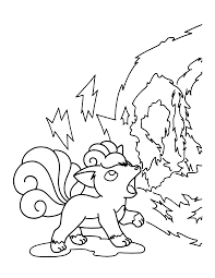 Pokemon Vulpix Coloring Pages Get Coloring Pages