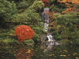 Lawn & Garden:Japanese Garden Landscape Design Cool Japanese Garden With  Small Water Fall