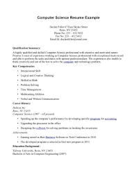 Sample Resume For Ojt Computer Science Students Alieninsidernet