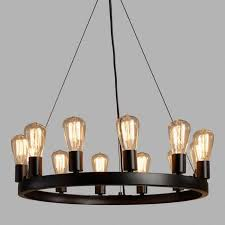 Round 12-Light Edison Bulb Chandelier  World Market a