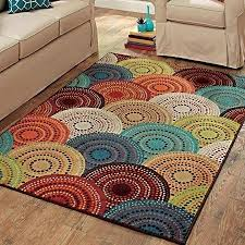 better homes and gardens area rugs better homes and gardens bright dotted circles area rug and