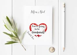 valentines day pregnancy announcement cards pregnancy reveal youre going to be a grandparent card made in