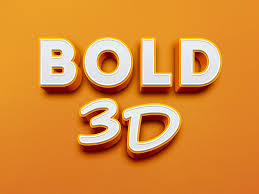 3d Text Design In Photoshop Bold 3d Text Effect Graphicburger