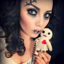 creepy sched doll makeup 2016 miss chanelli