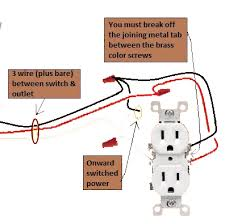 power switch half switched switch outlet electrical wiring done right extending circuit switched power from outlet