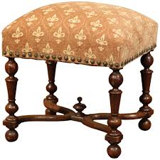 fleur de lis bar stools. 19th Century French Carved Walnut Stool With Fleur-de-Lys Pattern Fabric For Sale At 1stdibs Fleur De Lis Bar Stools