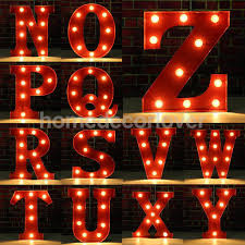 Red Light Vintage Costume Us 14 65 21 Off 12 Red Led Letter Light Vintage Circus Style Alphabet Light Up Sign A X In Plaques Signs From Home Garden On Aliexpress