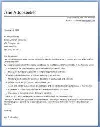 Lpn Cover Letter Examples Enchanting Cover Letter For Healthcare It