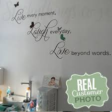baby clinic with live laugh love wall decal with extra erflies not included