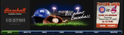 Baseball Websites Templates Website Template 26569 Baseball Portal Sport Custom Website