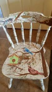 tropical painted furniture. hand painted bird chair tropical furniture
