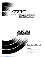 Akai Mpc 2500 Manuals