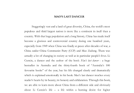mao s last dancer a level history marked by teachers com document image preview