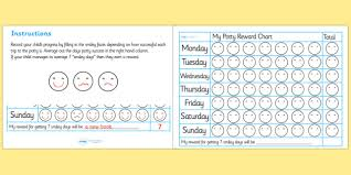 Free Potty Training Reward Chart Potty Training Reward