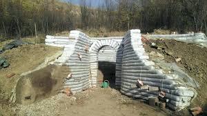 earthbag retaining wall cellar walls done build earthbag retaining wall