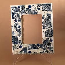 mosaic picture frame broken china broken china mosaic mosaic tile wall art