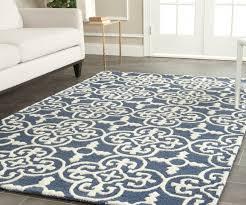 image of aqua blue nursery rug