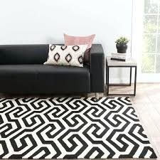 indoor outdoor geometric black white area rug and striped wool