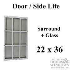 therma tru 22 x 36 x 1 2 9 lite surround w