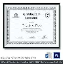 Ms Word Certificate Template Download Free Templates Certificates