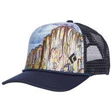 Black Diamond Flat Bill Trucker Hat Cap Captain White Ii One Size