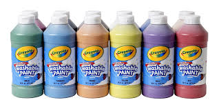 washable paint for wallsAmazoncom Crayola Washable Paint Assorted 16 oz 12 per Set