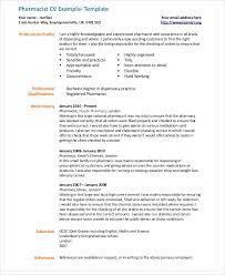 Pharmacy Curriculum Vitae Inspiration Pharmacist Cv Templates 28 Pharmacist Curriculum Vitae Templates Pdf Doc