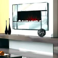 slim electric fireplace thin wall mount bevel edge mirror panel bradford slimline