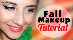 fall makeup tutorial cat eyes bold lips
