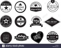 Vintage Graphic Design Ideas Set Of Black And White Graphic Design Logo Ideas For A