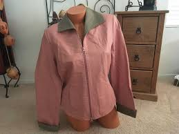 details about terry lewis classic luxuries mauve full zip genuine leather jacket coat s nwt